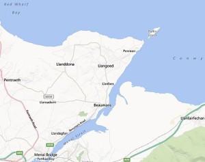 Llanddona map